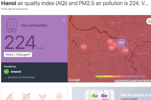 ô nhiễm không khí hà nội