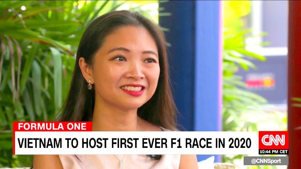Bà Lê Ngọc Chi trong cuộc phỏng vấn với CNN